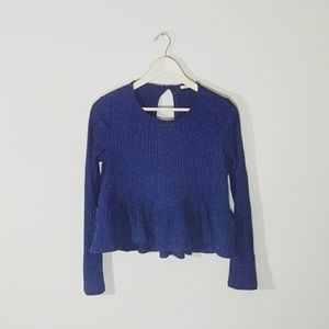 UO Kimchi Blue Ruffled Long Sleeve Crop Top